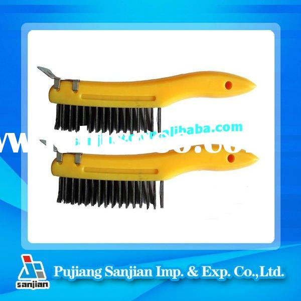 PLASTIC HANDLE STEEL WIRE BRUSH-SHOE STYLE
