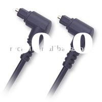 Plastic Optical Fiber cable, POF cable, toslink, Right Angle Type