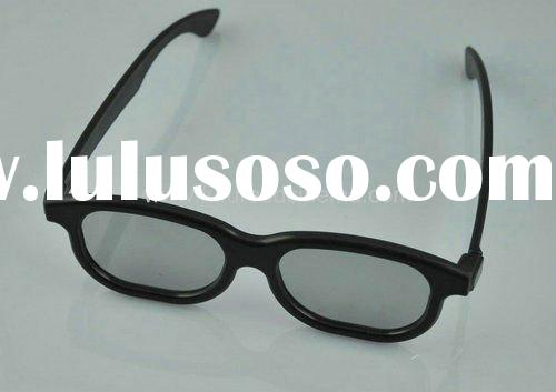 Popular Real D plastic black frame circular polarized 3D glasses