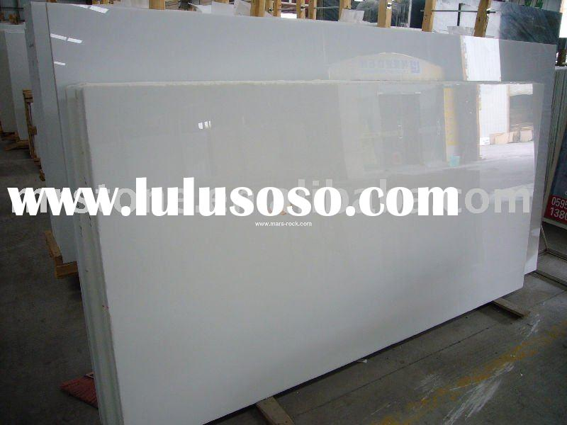 Pure White marble (slab, countertop)