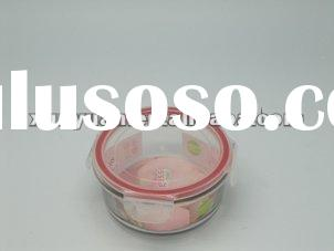 Pyrex Glass Food Box and Plastic Lids with Silicone Seals