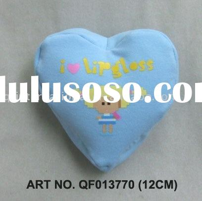 QF013770-1 12CM HEART SHAPE BEANIE BEAN BAG IN BLUE (ALL CUSTOM DESIGNS SHAPES AND COLOURS CAN BE MA