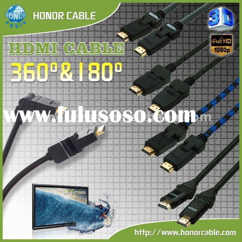 Rotatable 360 degree HDMI cable (hot sale )