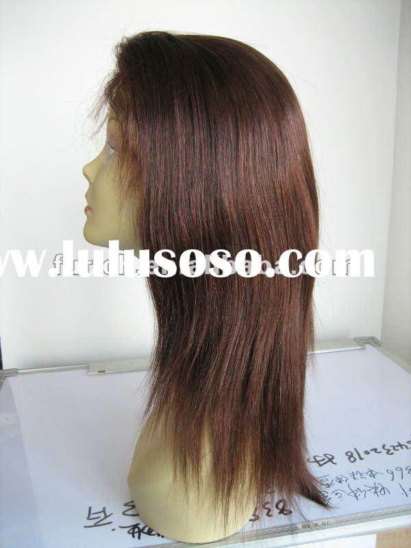 """STOCK!!! fashion elite design 16"""" natural straight 2/33# mix color india remy hair lace front w"""