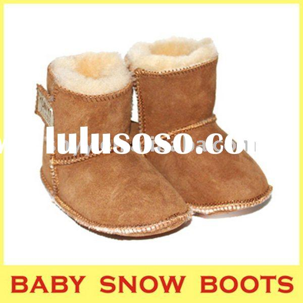 Soft baby walking shoes double face sheepskin baby snow boots