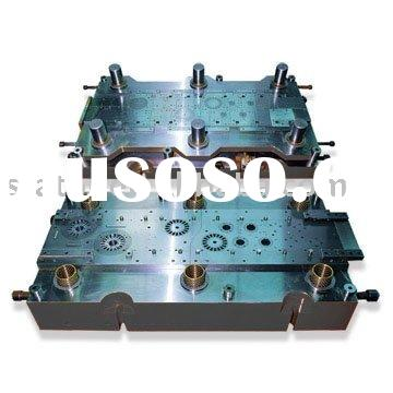 Stamping progressive die for motor stator and rotor lamination