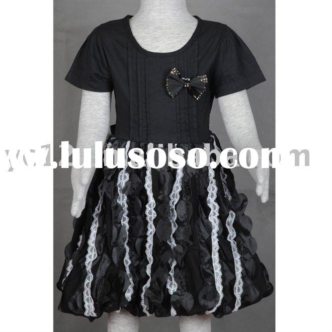 Stock: Knitted Lace Bow Kids Beautiful Model Dresses