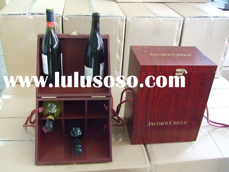 The latest 6 bottles wooden wine box for gift