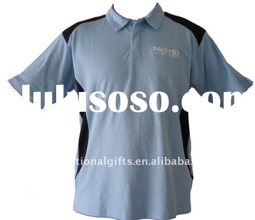 Two color short sleeve polo shirt with logo