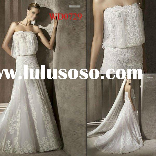 WD0729 New design Lace Empire Wedding Dresses for Pregnant Women