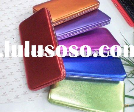 Wholesale trendy flat frame PU leather fashion wallet more than 9 colors WBW-015