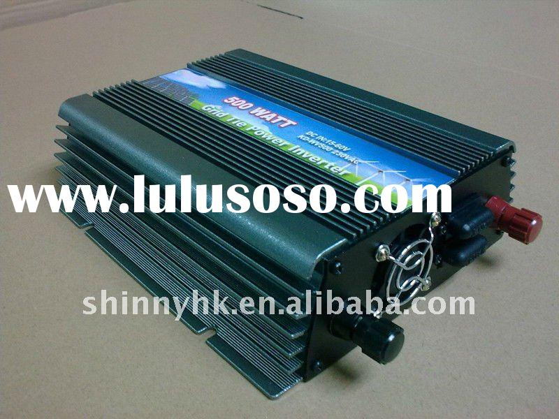 Wide Frequency Solar Grid Tie home Inverter 500W