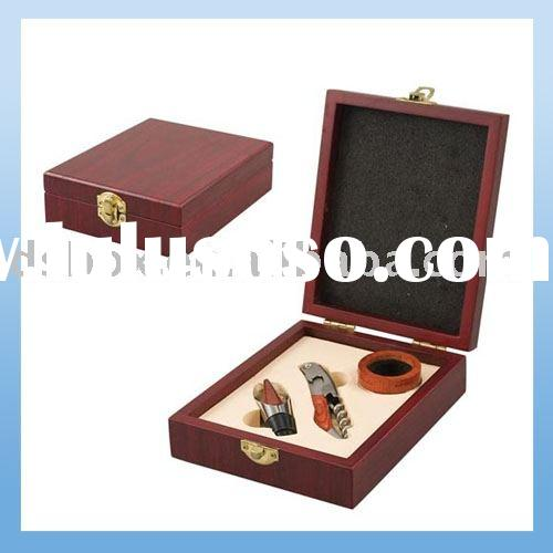 Wooden Wine Set Gift Box
