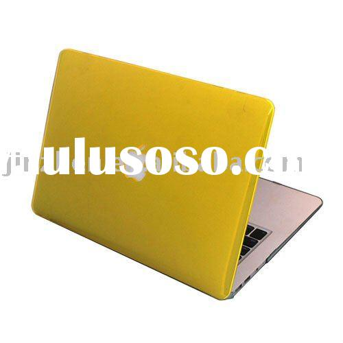 Yellow see through rubberized hard shell case for macbook air