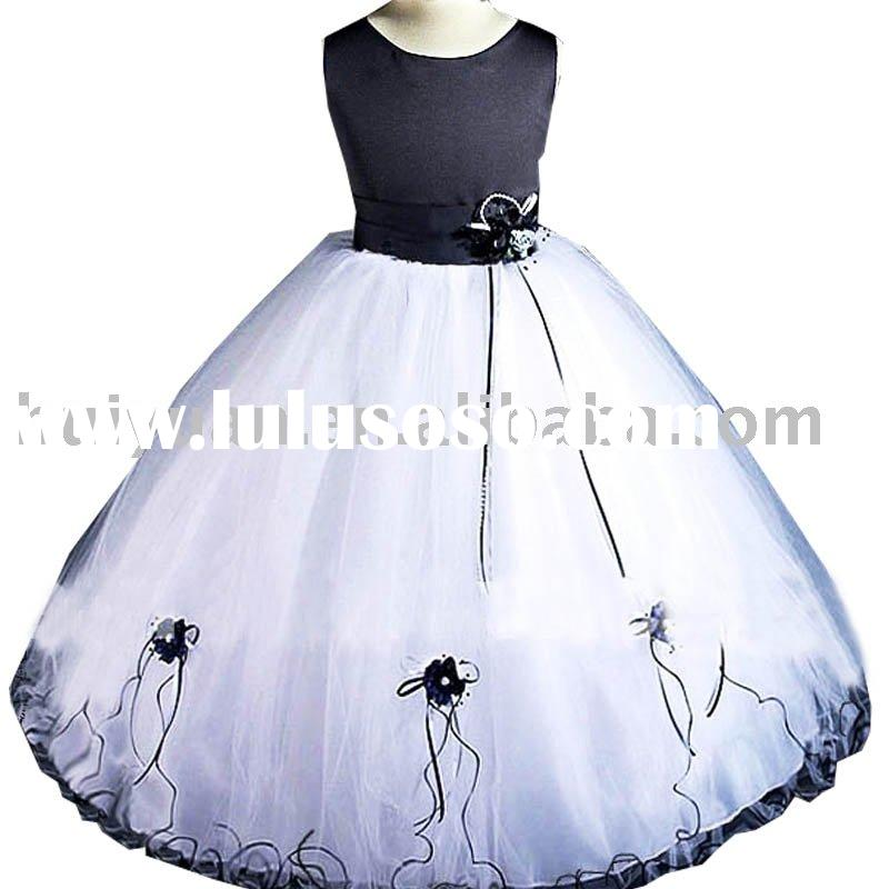 [SUPER DEAL] dark blue and white girls party dresses size 10