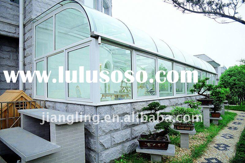 Prefabricated aluminum glass house for sale price china for Prefab glass house prices