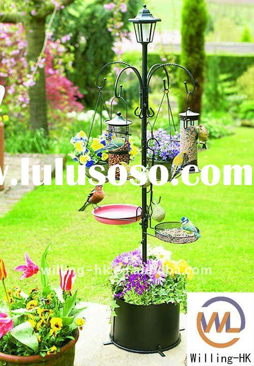 Multi Bird Feeder Station With Planter Stand For Sale