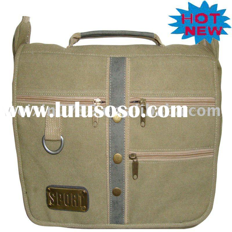 canvas messenger bag with handle