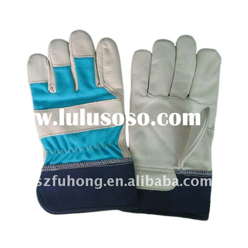 cow grain leather work gloves for construction work