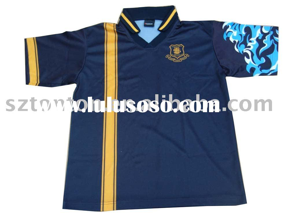 custom made dye sublimation soccer uniform