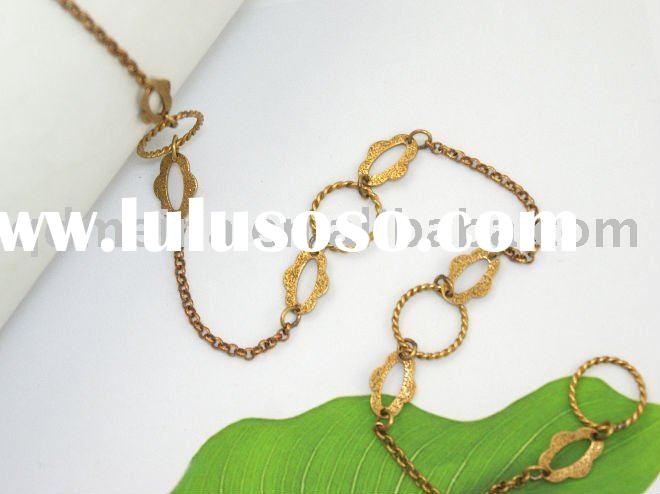 fashion brass costume chain jewelry