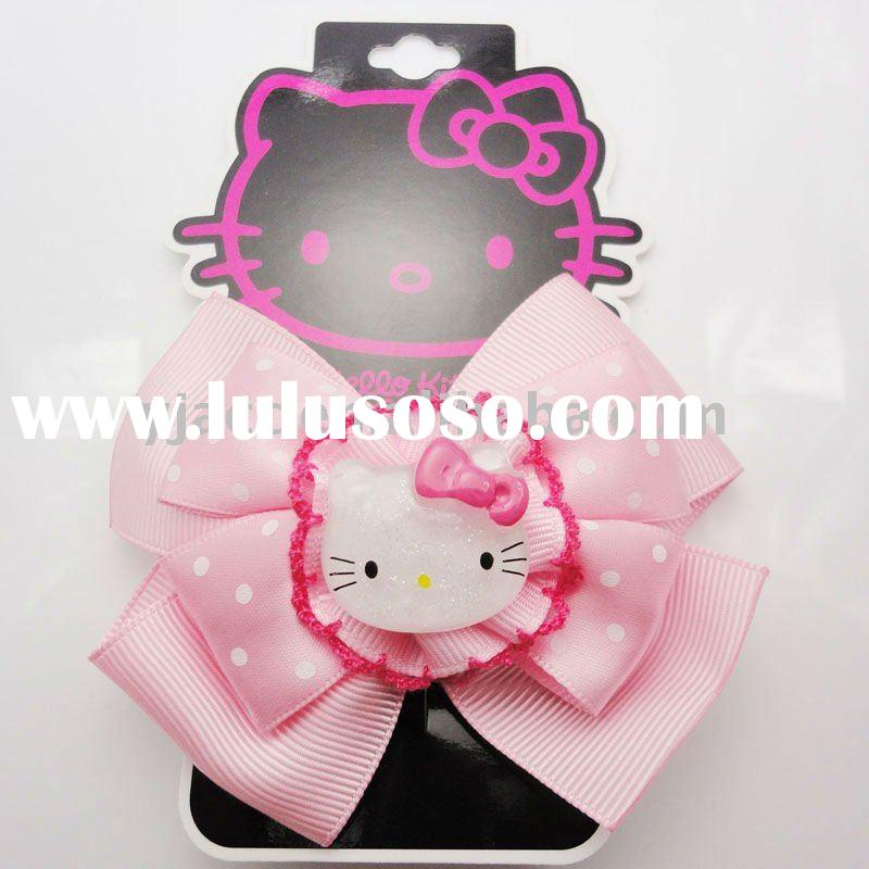 fashion ribbon hello kitty bow hair jewelry