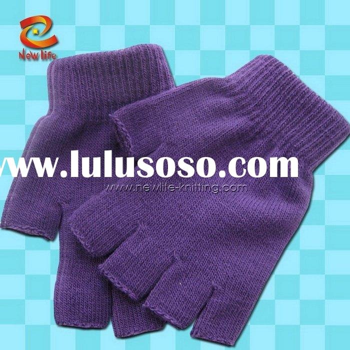 fingerless gloves knitting pattern,fingerless gloves patterns,fingerless striped gloves NLKG(599)