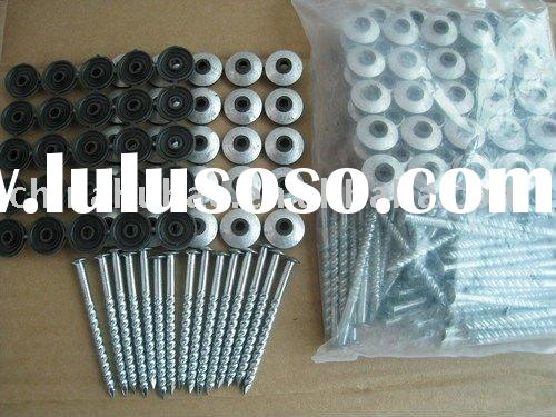 galvanized spiral shank roofing nails with rubber washer