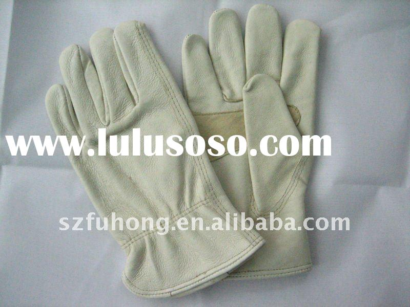 grain cowhide leather driver glove for genereal work