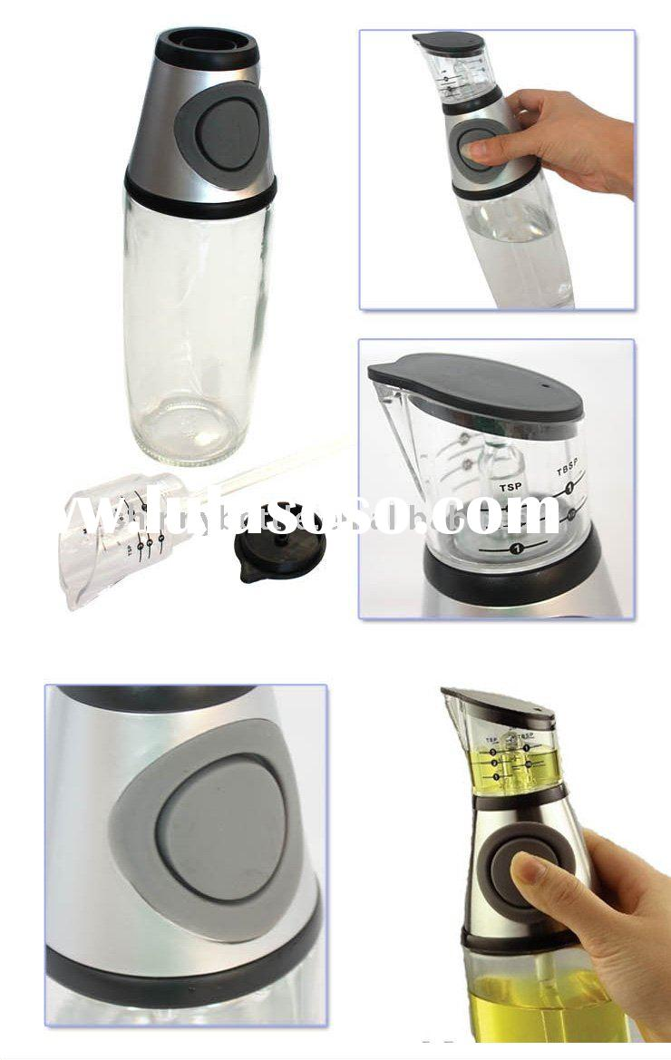 healthy oil dispenser glass bottle , glass container