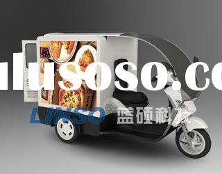 mobile advertising trailer with scooter