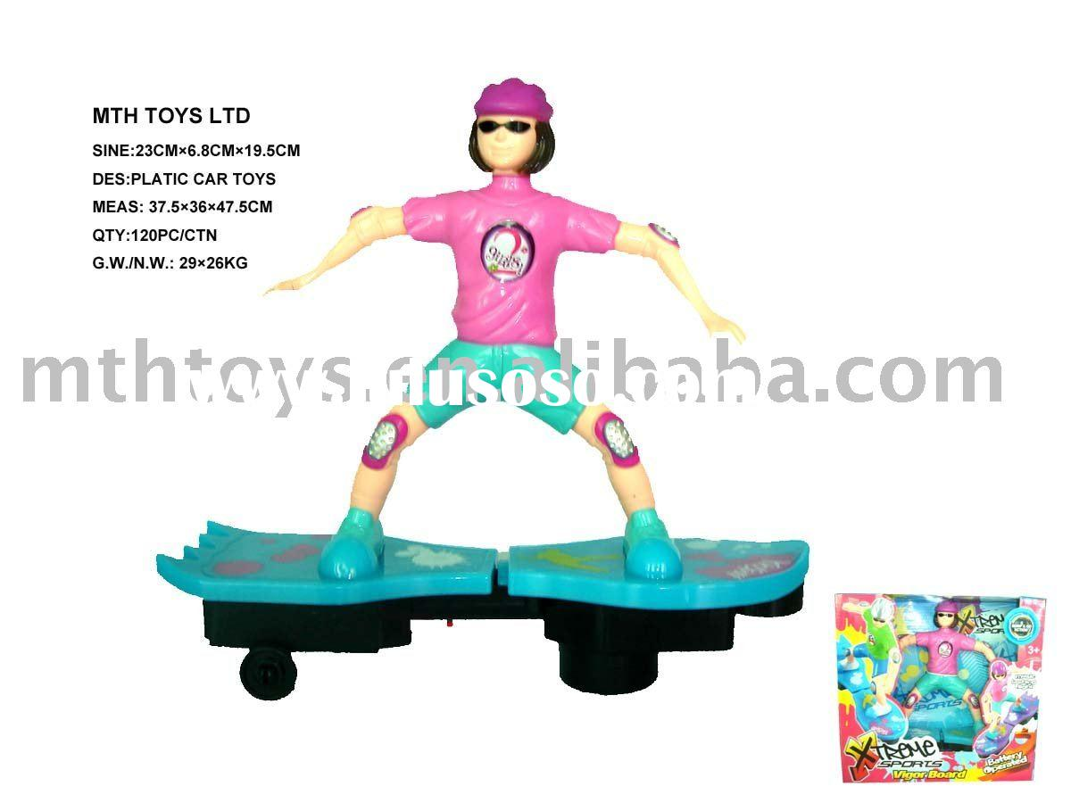 music electric plastic toy skateboard sport toy