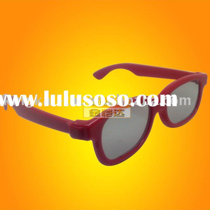 plastic circular polarized 3d glasses for adults and kids