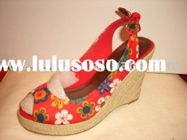 pop colorful wedge sandals for women