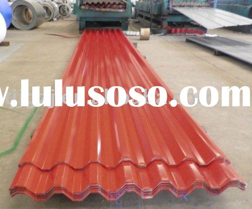 prepainted galvanized corrugated steel sheets/color coated trapezoid/curved steel sheets for roof