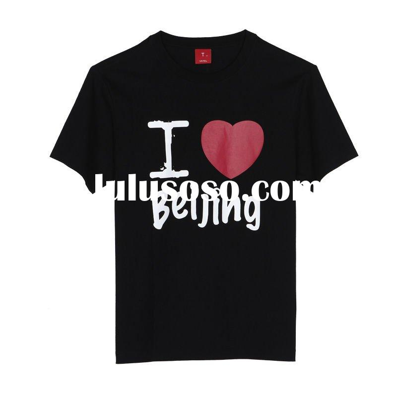 print black plain tshirt