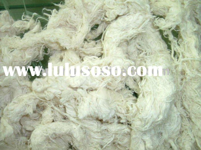 pure recycled cotton yarn waste