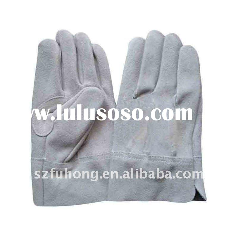 quality split cowhide leather driver glove