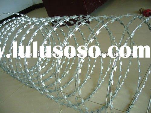 razor edge wire fence concertina barbed wire galv