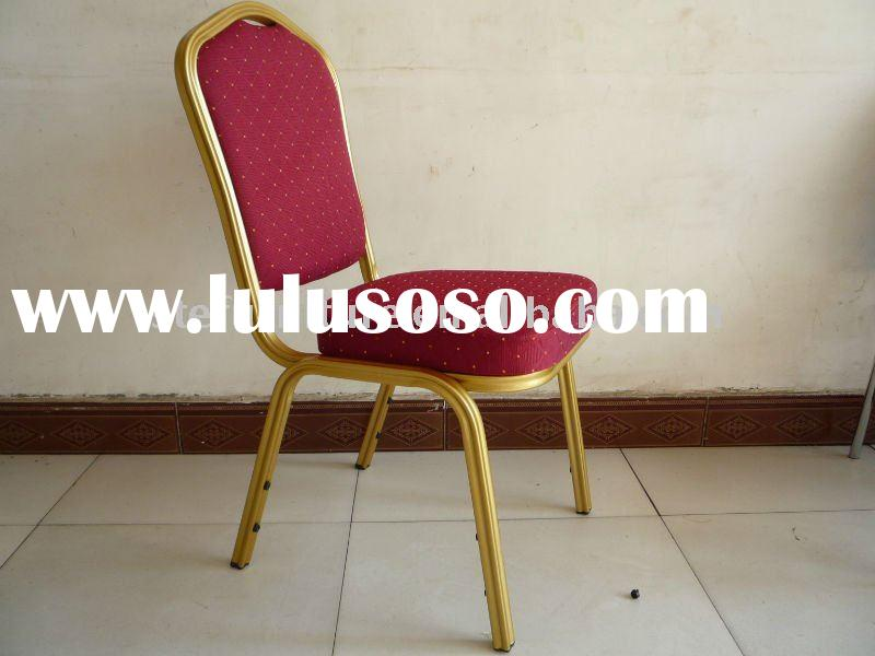 red Fire-retardant fabric powder coating upholstered banquet chair