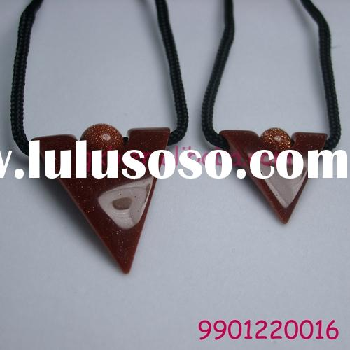 sandstone pendants of couple wholesale fashion necklace