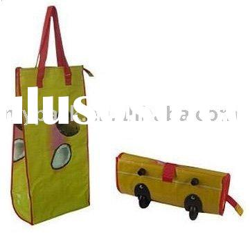 shopping bag, wheeled shopping bag