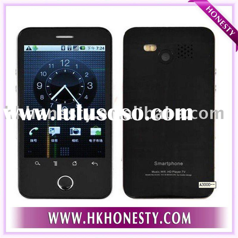 smart google android OS touch screen mobile phone A3000 built in GPS WIFI TV