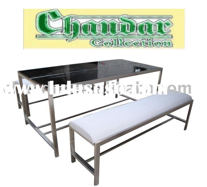 stainless steel granite top dining table outdoor furniture,granite dining table