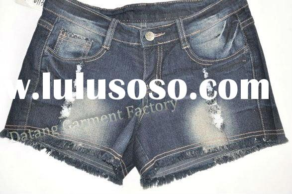 women fashion jeans shorts in 2011 factory