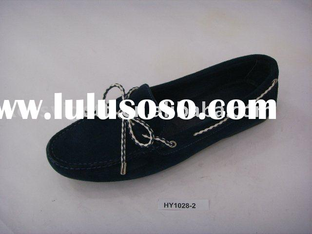 women flat shoes 2010, lady fashion moccasin, flat shoes for women, nice design ladies flat shoes