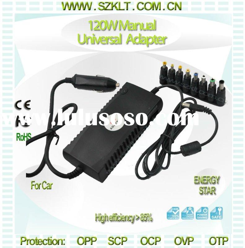 120W DC manual universal adapters power supply charger adapter