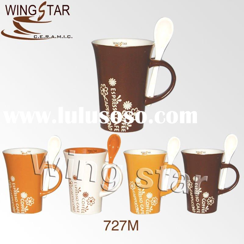 13oz tall coffee mug with spoon