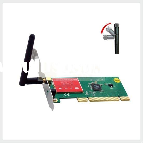 150Mbps PCI Wireless LAN Card with Detachable Antenna