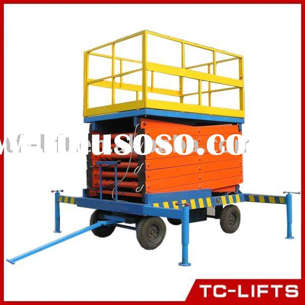 18m lift height trailer scissor lift